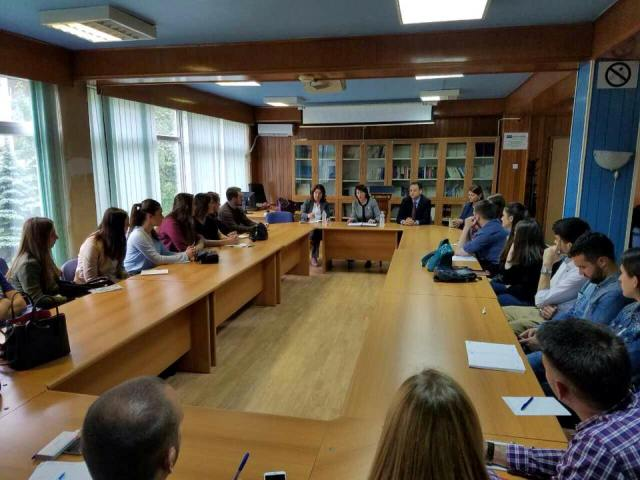 THE FORMER PRESIDENT OF KOSOVO MS.ATIFETE JAHJAGA GAVE A LECTURE TO STUDENTS OF THE TRANSITIONAL JUSTICE COURSE