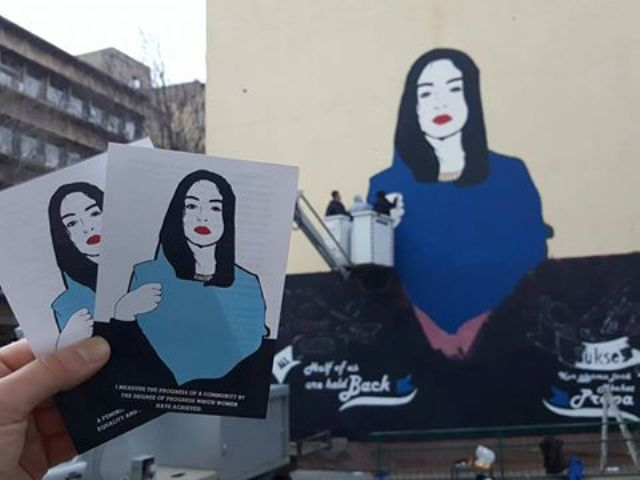 STREET ART MARKED MARCH 8TH – INTERNATIONAL WOMEN'S DAY IN MITROVICA